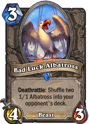 Bad Luck Albatross Card