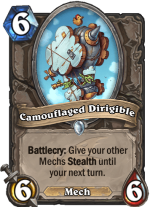 Camouflaged Dirigible Card