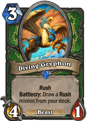 Diving Gryphon Card