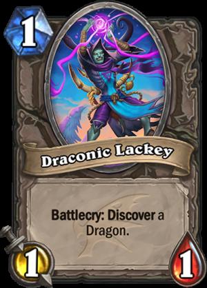 Draconic Lackey Card