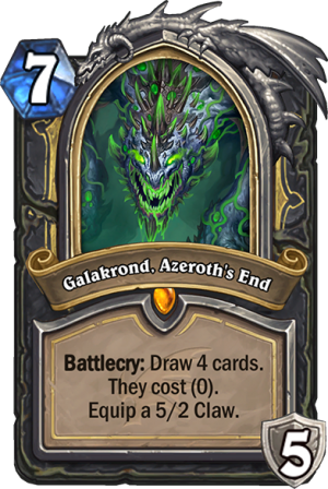Galakrond, Azeroth's End (Rogue) Card