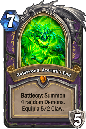 Galakrond, Azeroth's End (Warlock) Card