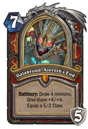Galakrond, Azeroth's End (Warrior) Card