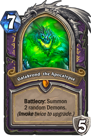 Galakrond, the Apocalypse (Warlock) Card