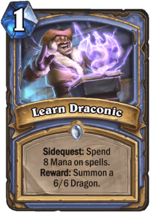 Learn Draconic Card