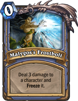 Malygos's Frostbolt Card