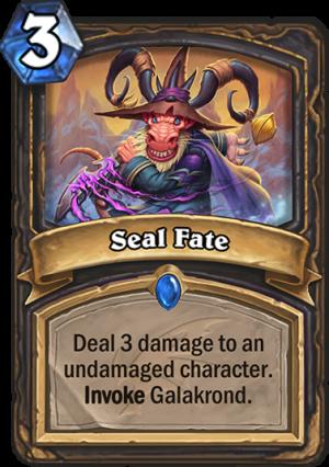 Seal Fate Card