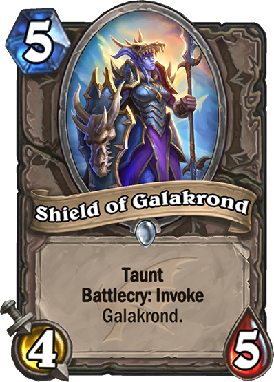 Výsledek obrázku pro Shield of Galakrond hearthstone