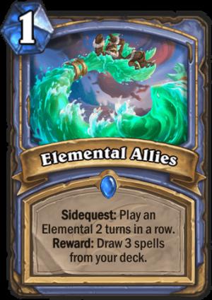 Elemental Allies Card
