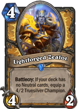 Lightforged Zealot Card