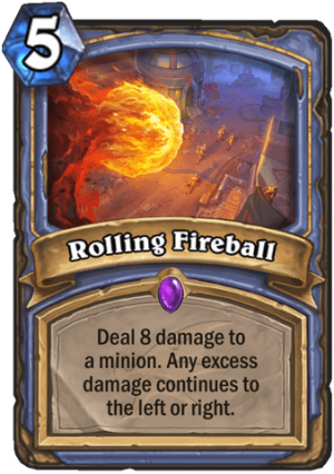 Rolling Fireball Card