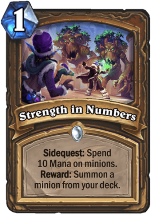 Strength in Numbers Card