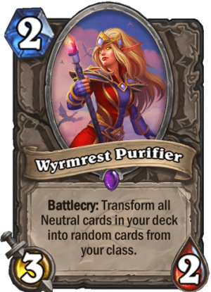 Wyrmrest Purifier Card