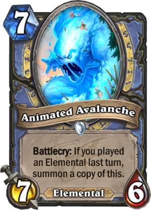 Animated Avalanche Card