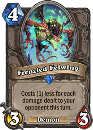 Frenzied Felwing Card