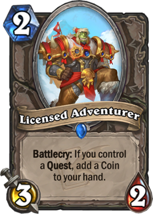 Licensed Adventurer Card