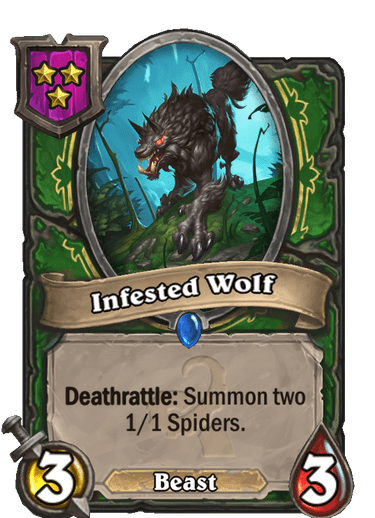 Infested Wolf Card