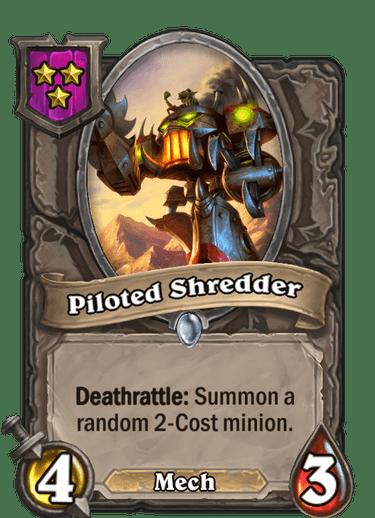 Piloted Shredder Card