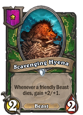 Scavenging Hyena Card