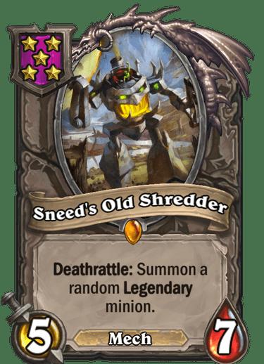 Sneed's Old Shredder Card