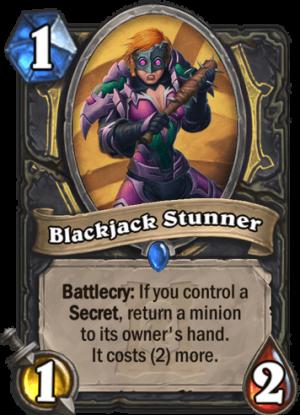 Blackjack Stunner Card