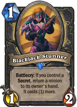 Blackjack Stunner Card