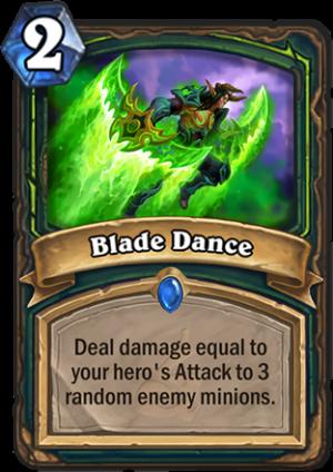Blade Dance Card