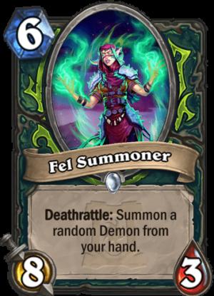 Fel Summoner Card