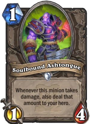 Soulbound Ashtongue Card
