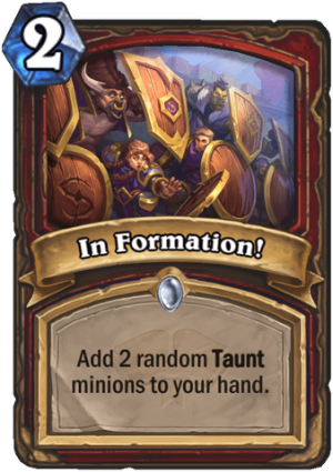 In Formation! Card