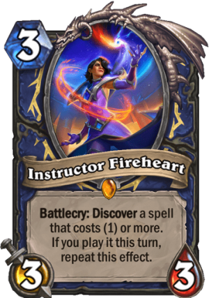 Instructor Fireheart Card