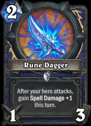 Rune Dagger Card