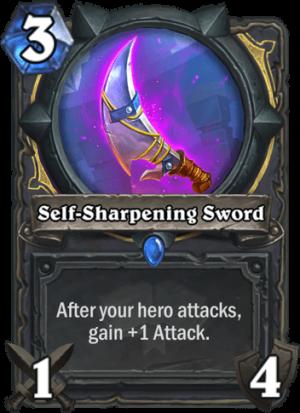 Self-Sharpening Sword Card