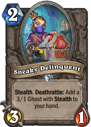 Sneaky Delinquent Card