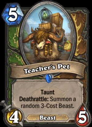 Teacher's Pet Card