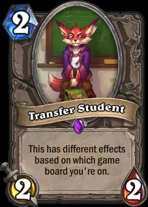 Transfer Student Card