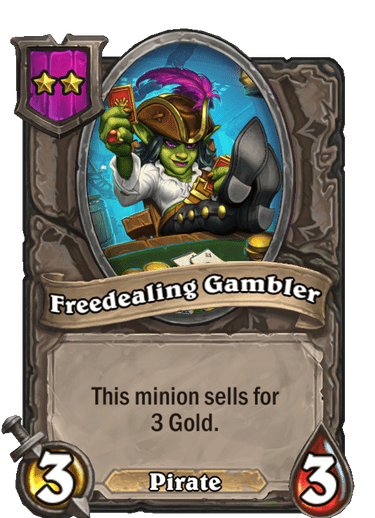 Freedealing Gambler Card!